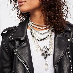 Free People Girl In The Pearls Statement Necklace